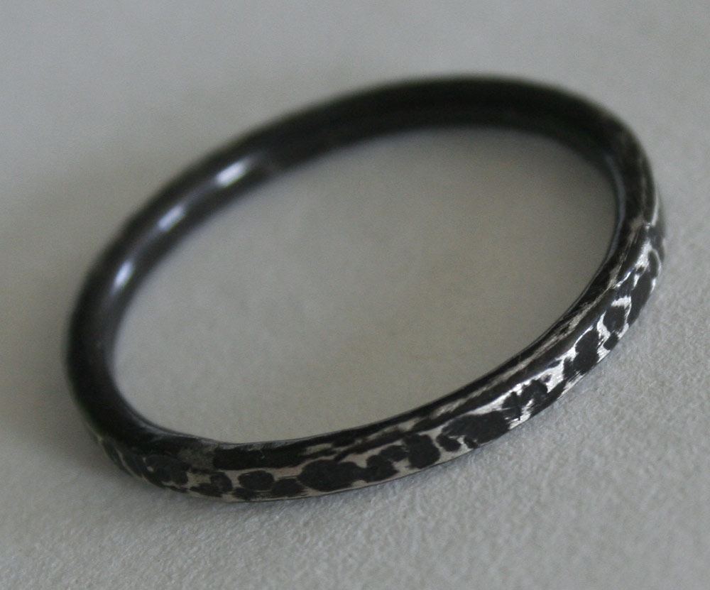 Bark Ring - Antiqued Sterling Silver handcrafted ring by Julie A. Brown