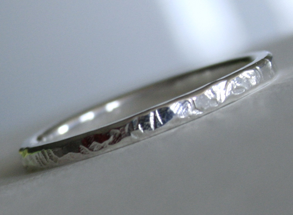 Bright Water Ring - Sterling Silver handcrafted ring by Julie A. Brown