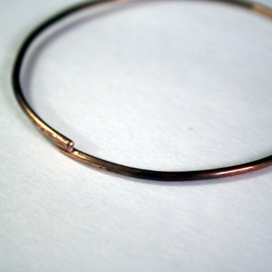 Simple Rustic Bronze Bangle by Julie A. Brown
