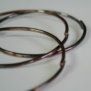 Simple Rustic Copper and Bronze Bangles