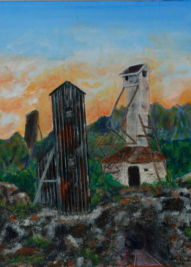 Exploring Cobalt 2 - Mining Head framesGiclee Reproduction