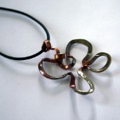 Flower Power Copper Necklace by Julie A. Brown