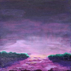 Glow, acrylic landscape painting by Julie A. Brown