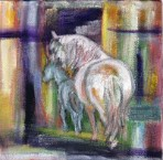 Maternal - Giclee Reproduction of Abstract Mare and Foal