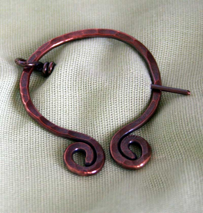 Ancient- hand forged from recycled copper wire by Julie A. Brown