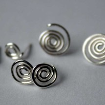 Sterling Silver Spiral Post Earrings by Julie A. Brown