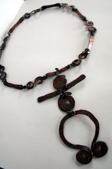 Spirit Journey - handcrafted recycled copper eco-friendly necklace