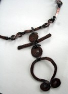 Spirit Journey Copper Spiral Necklace by Julie A. Brown