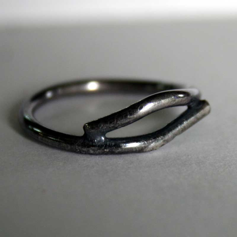 Twig Ring - sterling silver handcrafted ring by Julie A. Brown