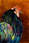 Who You Callin' Chicken 2 - Rooster archival Giclee reproduction