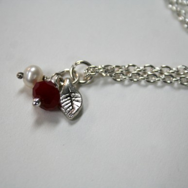 Berries - handcrafted necklace by Julie A. Brown