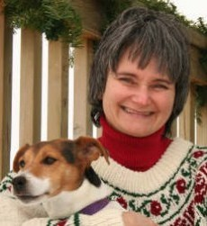 Photo of Julie A. Brown and Tilly the dog